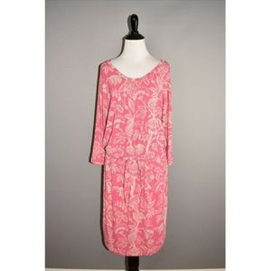 TOMMY BAHAMA Floral Jersey Blouson Dress